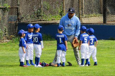 Photo of a Youth Baseball Team & Coach